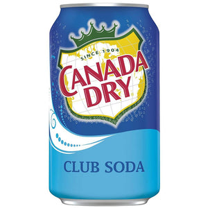 Canada Dry Club Soda, 12 oz (Pack of 24)