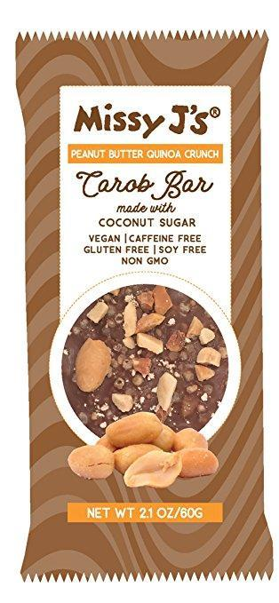 Missy J's Peanut Butter Quinoa Crunch Carob Candy Bars, 2.1 oz. (Pack of 3)