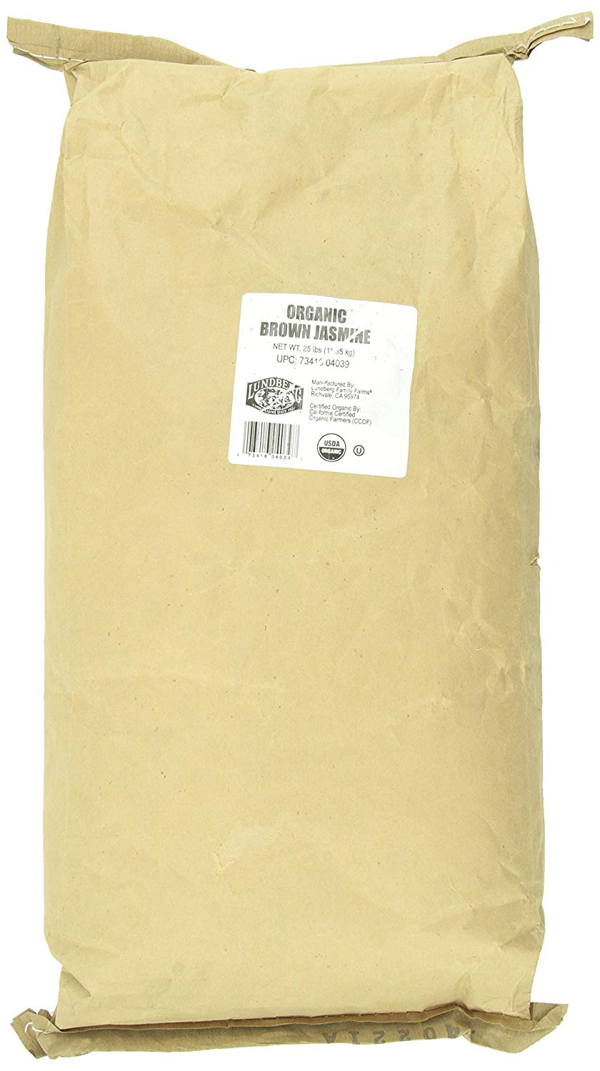 Lundberg Family Farms Organic Brown Jasmine Rice, 25 lb
