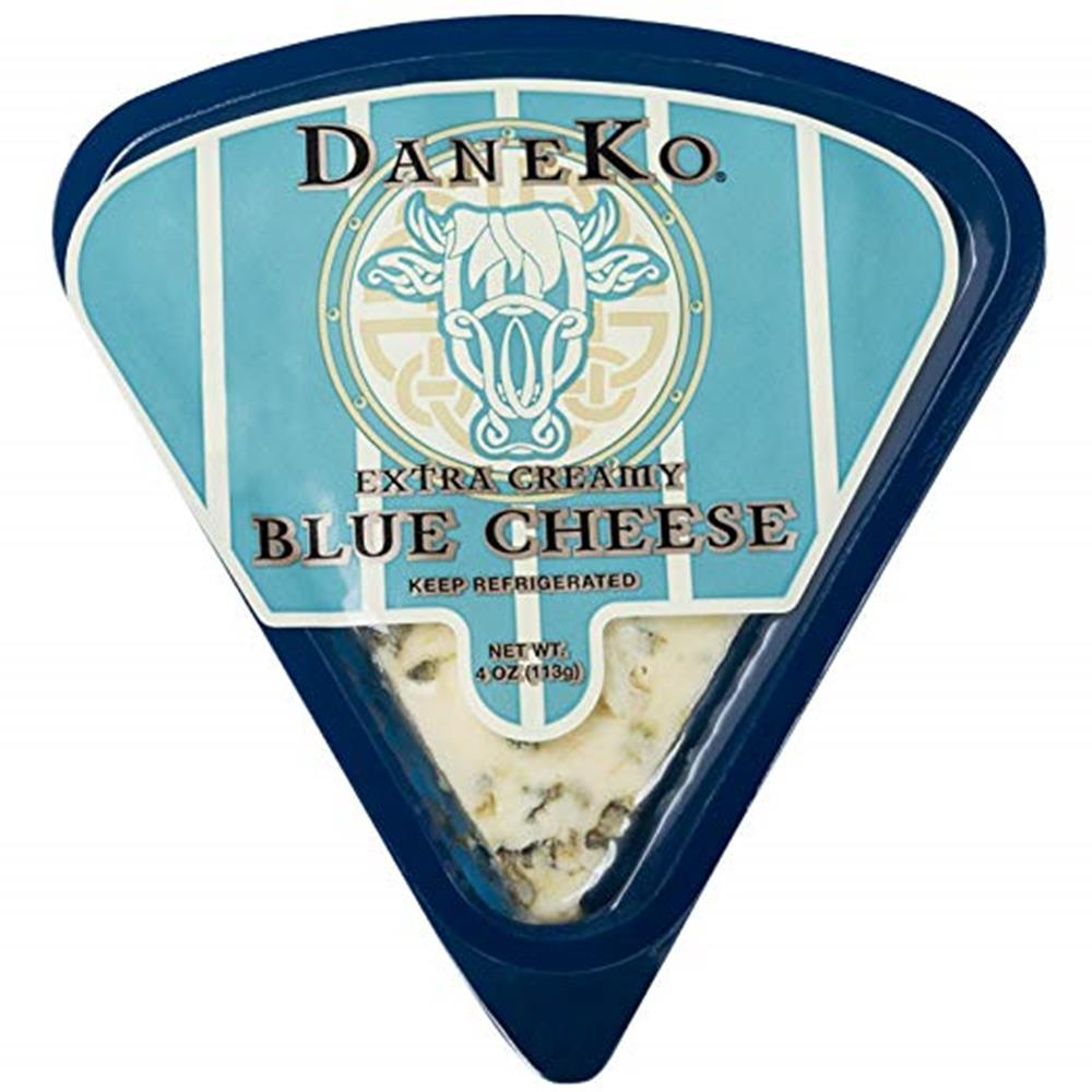 Daneko Extra Creamy Danish Blue Cheese, 4 Oz (Pack of 3)