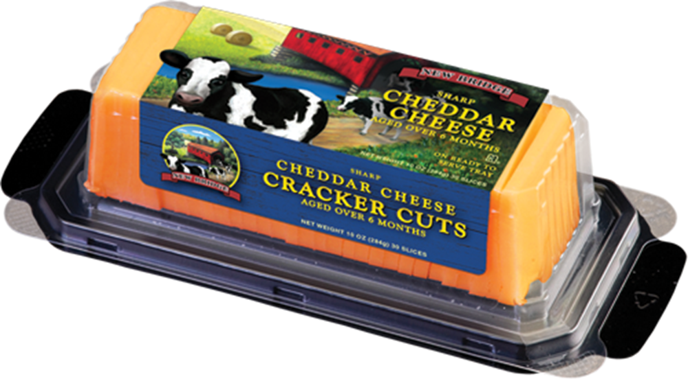 New Bridge Sharp Yellow Cracker Cut Cheddar, 10 Oz (Pack of 3)