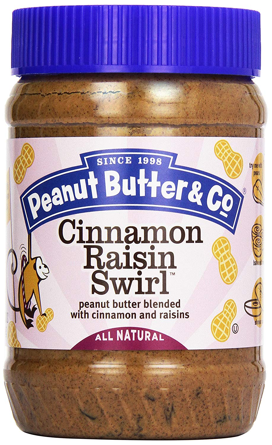 Peanut Butter & Co. Cinnamon Raisin Swirl, 16 oz. (Case of 6)