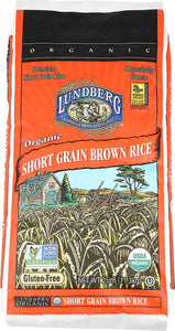 Lundberg Family Farms Organic Short Grain Brown Rice, 25 lb