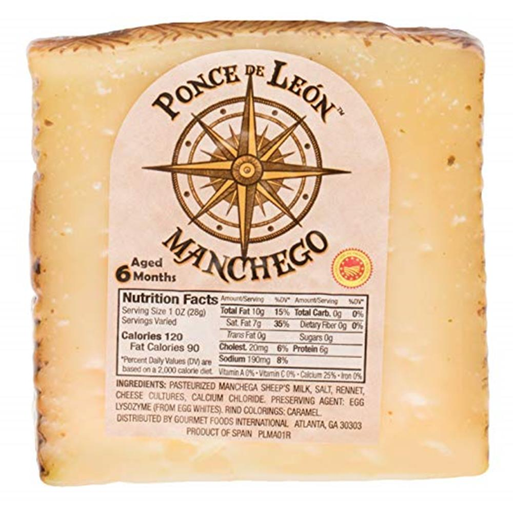 Ponce De Leon 6 Month Manchego Wedges, 8 Oz (Pack of 3)