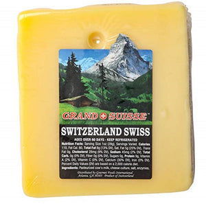 Grand Suisse Switzerland Swiss Cheese, 8 Oz (Pack of 3)