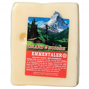 Grand Suisse Swiss Emmentaler, 8 Oz (Pack of 3)