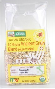 Agribosco Organic Italian 10 Minute Ancient Grains, 8.8 oz. (Case of 12)