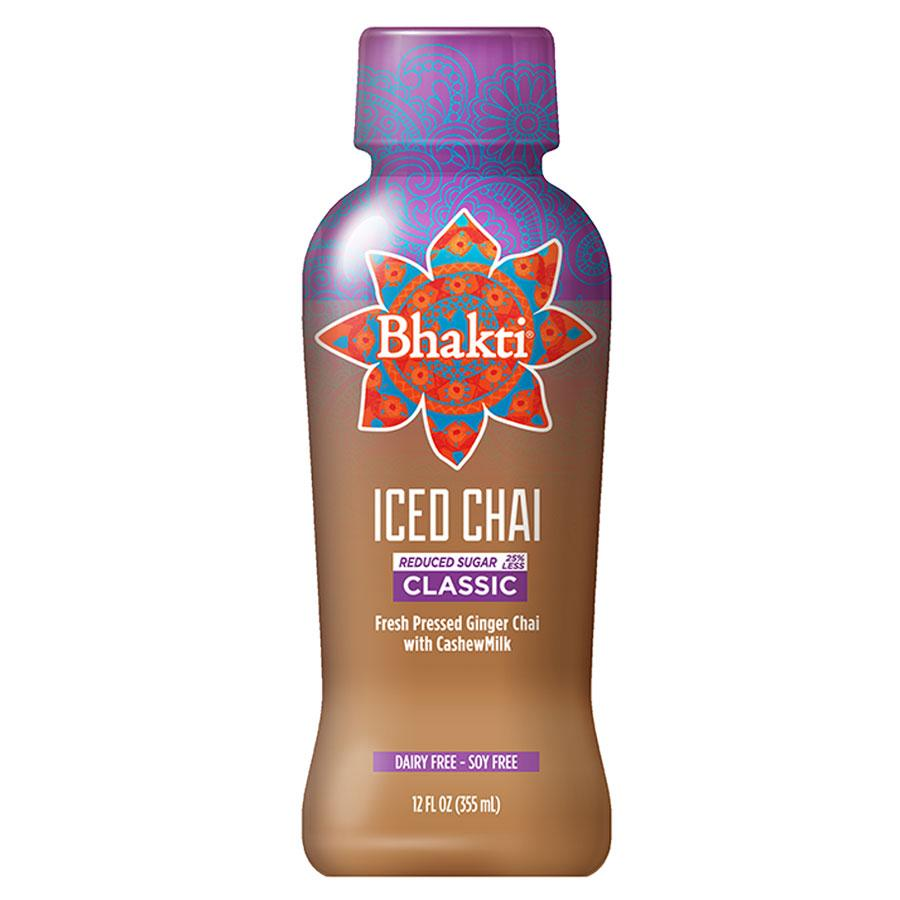 Bhakti Iced Chai Reduced Sugar Classic Cashewmilk, 12 oz (Case of 12)