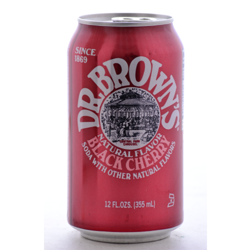 Dr. Brown's Soda, Black Cherry, 24/12 Oz