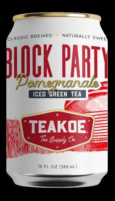 Teakoe Block Party Pomegranate Iced Green Tea - 12 Fl Oz (Case of 12)