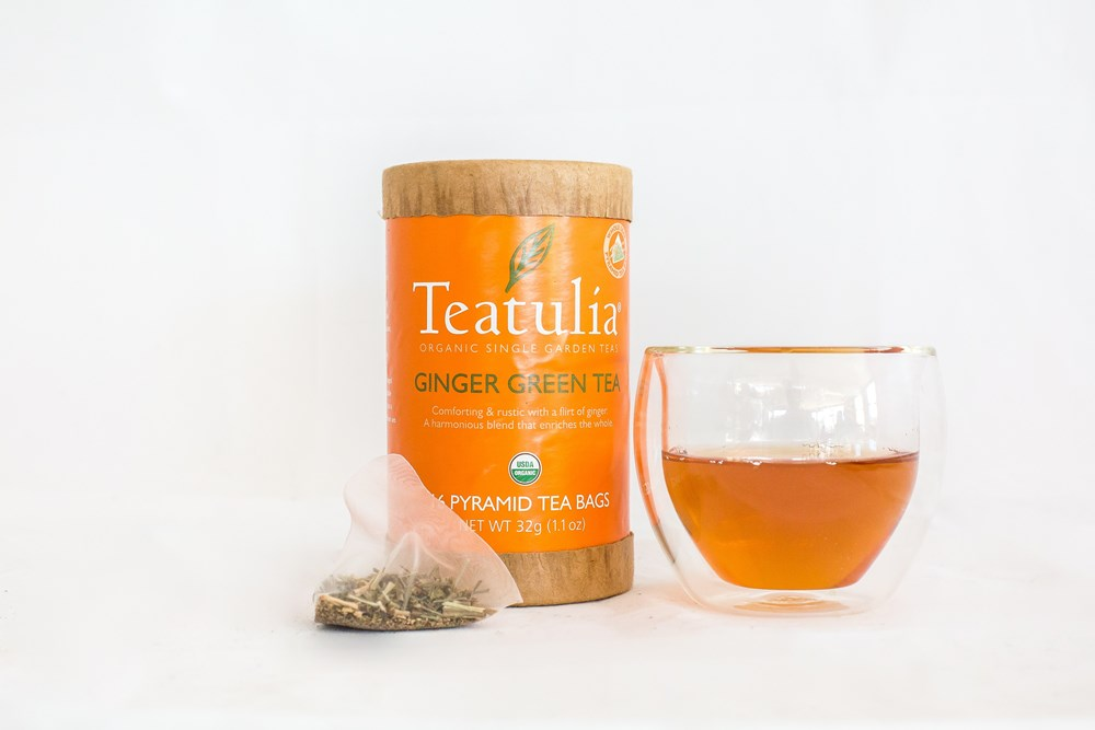 Teatulia Ginger Green Tea, 6/16 ct