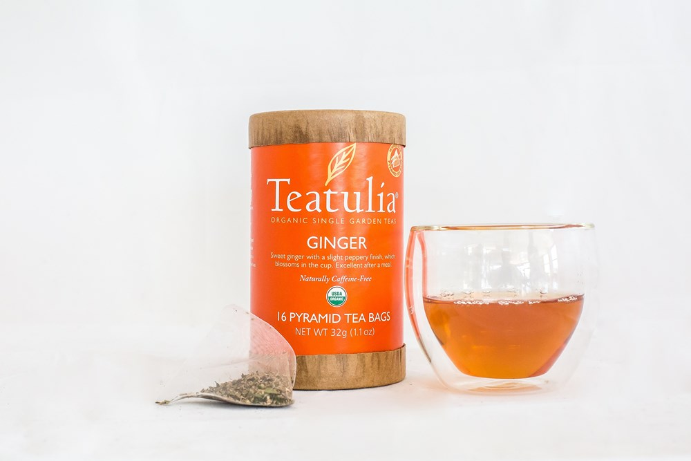 Teatulia Ginger Herbal Infusion Tea, 6/16 ct