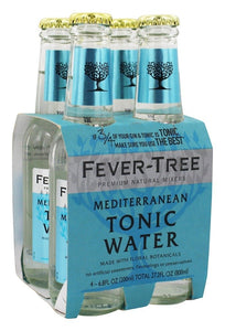 Fever-Tree Mediterranean Tonic Water, 6.8 Ounce (Case of 24)