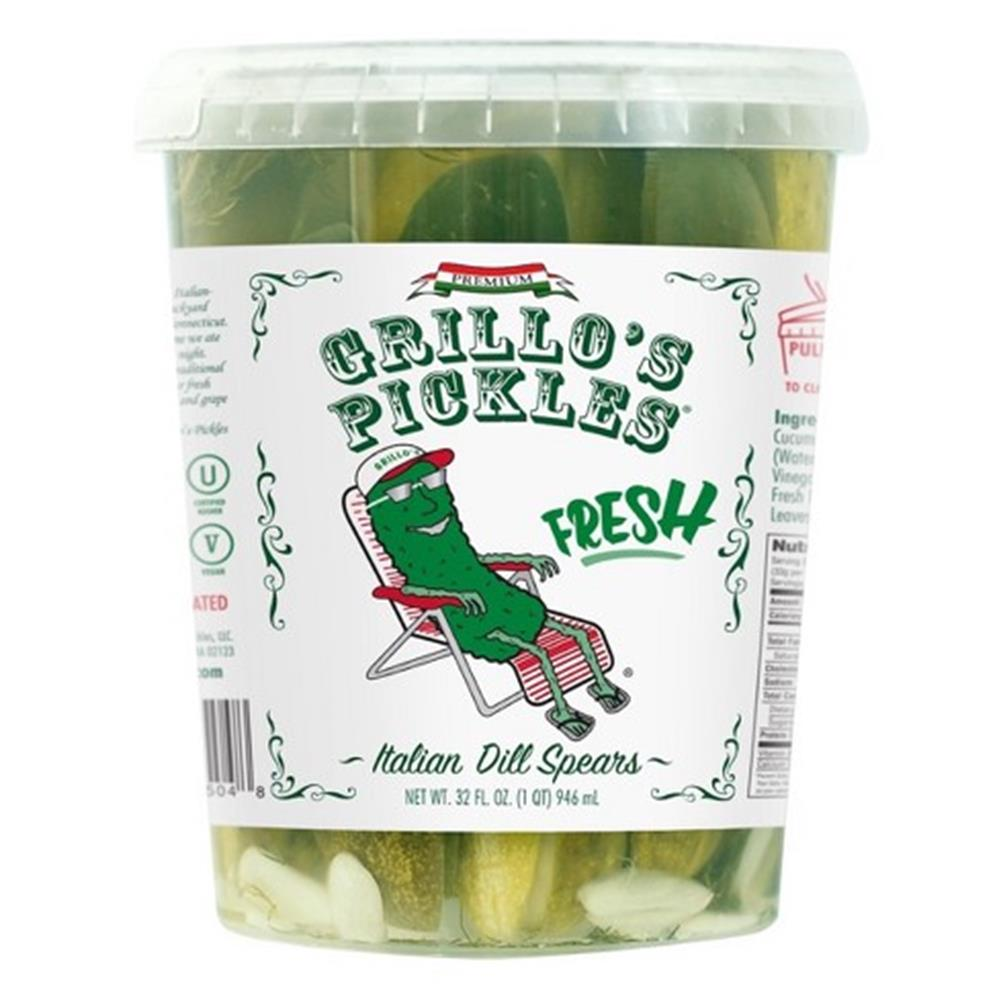 Grillo's Italian Dill Pickle Spears, 32 Oz (Case of 6)