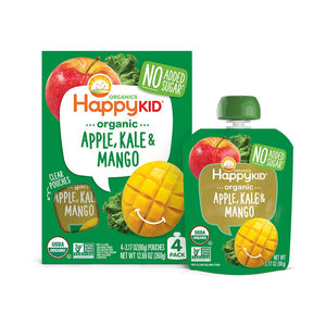 Happy Kid Apple Kale & Mango, 3.17 oz (Case of 16)