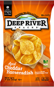 Deep River Horseradish Cheddar Chips, 2 oz (Case of 24)