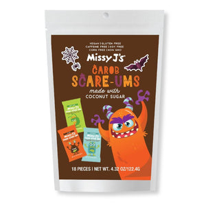 Missy J's Carob Halloween Scare-Ums Variety Pack 4.32 Oz. (Pack of 3)
