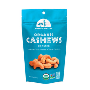 Mavuno Harvest Roasted Organic Cashews, 4 oz. (Case of 6)