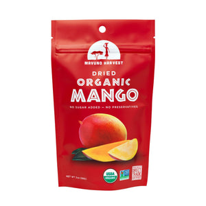 Mavuno Harvest Dried Organic Mango, 2 oz. (Case of 6)