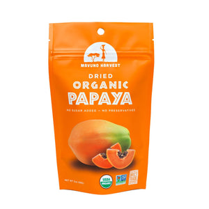 Mavuno Harvest Dried Organic Papaya, 2 oz. (Case of 6)