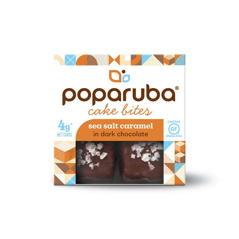 Poparuba Cake Bites - Sea Salt Caramel - 2.4 Oz (Case of 12)