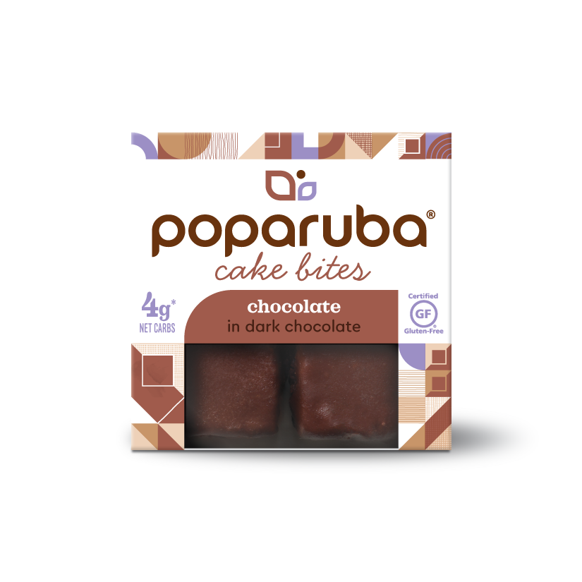Poparuba Cake Bites - Dark Chocolate - 2.4 Oz (Case of 12)