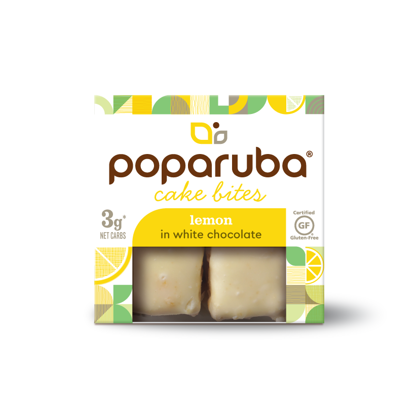 Poparuba Cake Bites - Lemon - 2.4 Oz (Case of 12)
