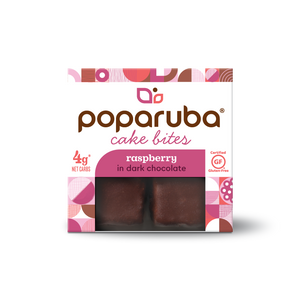 Poparuba Cake Bites - Chocolate Raspberry - 2.4 Oz (Case of 12)