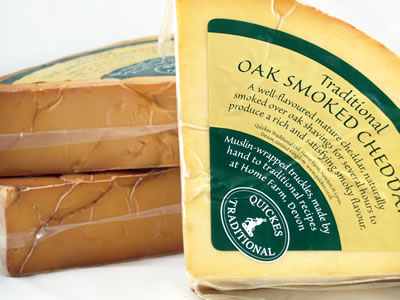 Quickes Oak Smoked Cheddar, 3.5 lb