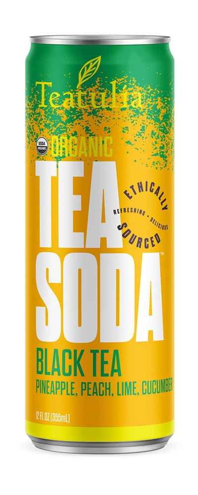 Teatulia Black Tea Soda Tea, 12/12 oz.
