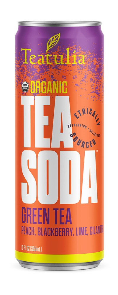 Teatulia Green Tea Soda Tea, 12/12 oz.