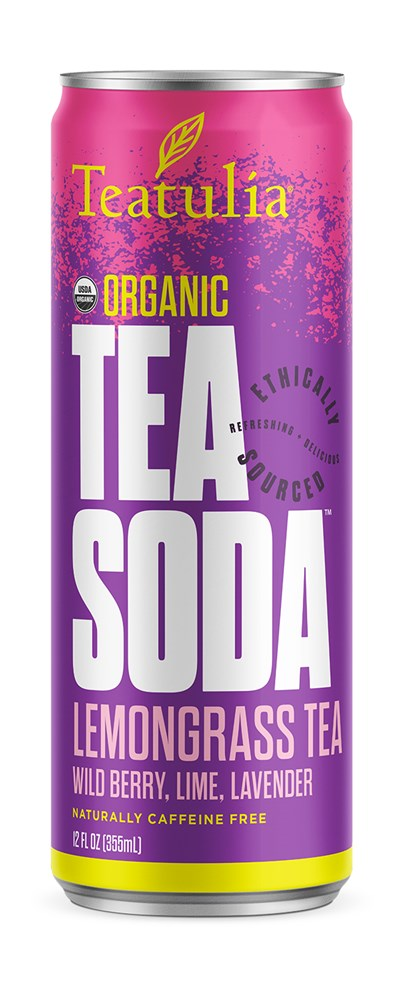 Teatulia Lemongrass Tea Soda Tea, 12/12 oz.