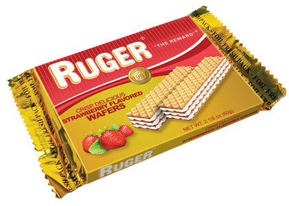 Ruger Austrian Strawberry Wafers, 2.125 oz. (Case of 12)