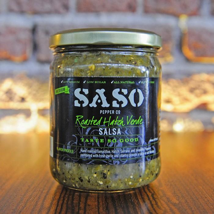 SaSo Pepper Co. Roasted Hatch Verde Salsa, 16 oz.