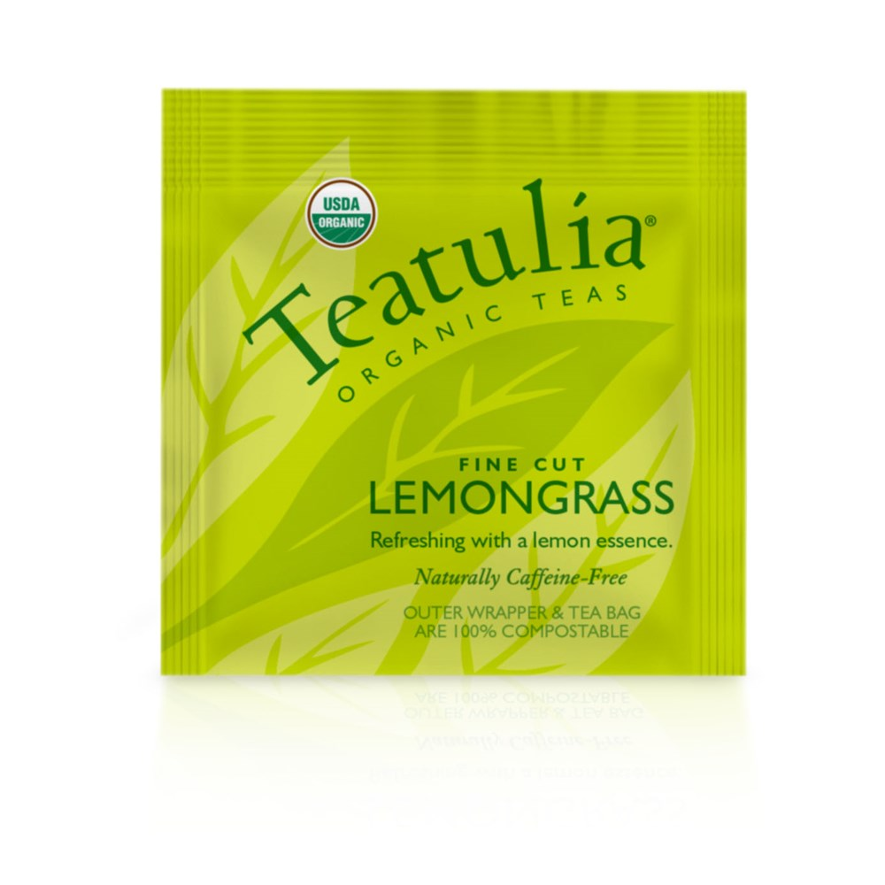 Teatulia Lemongrass Herbal Infusion Tea, 50/1.6 gr