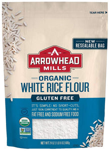 Arrowhead Organic Gluten Free White Rice Flour, 24 oz (Case of 6)