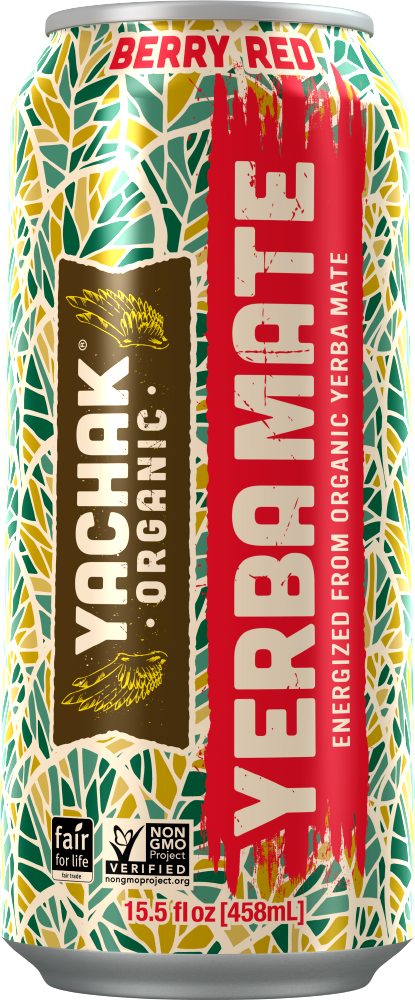 Yachak Yerba Mate Berry Red, 16 Oz. (Case of 12)