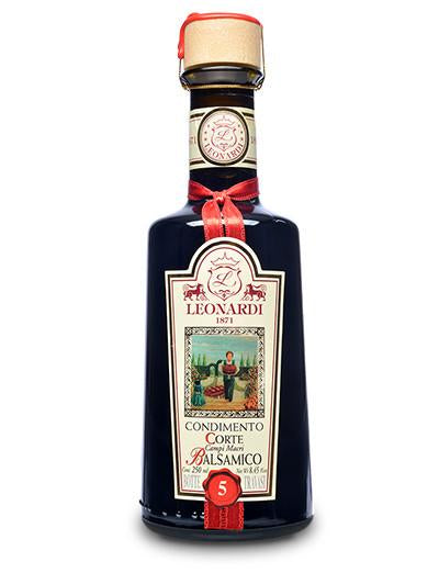 Acetaia Leonardi 5 Year Balsamic Vinegar, 8.45 oz.