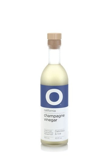 O Olive Oil Champagne Wine Vinegar, 10.1 oz. (Case of 6)