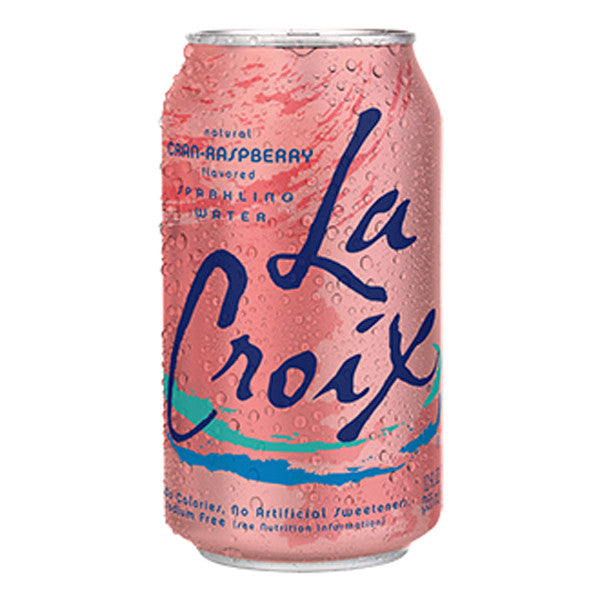 LaCroix CranRaspberry, 12 oz. (Pack of 24)