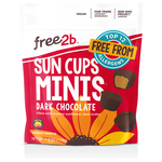 Free 2b Dark Chocolate Sun Cup Minis, 4.2 oz. (Pack of 6)