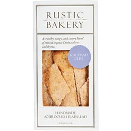 Rustic Bakery Kalamata Olive Flatbread, 6 oz. (Case of 12)