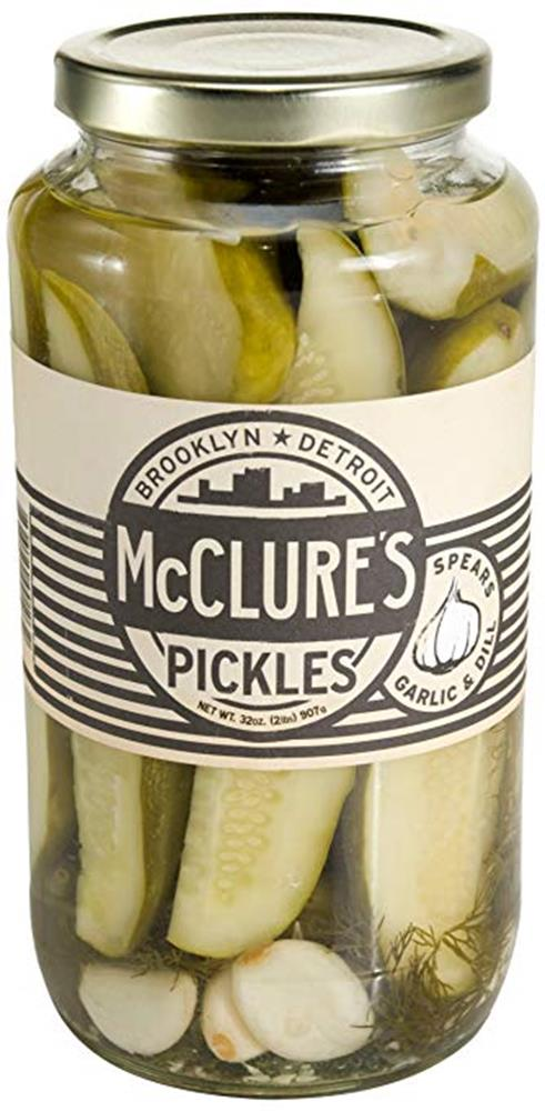 McClure's Whole Garlic Dill Pickles, 32 Oz (Case of 6)