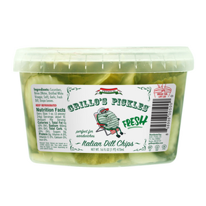 Grillo's Italian Dill Pickle Chips, 16 Oz (Case of 6)