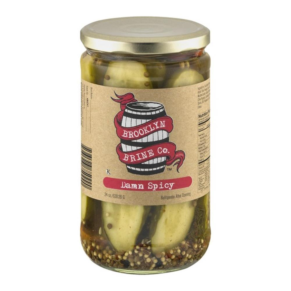 Brooklyn Brine CO Damn Spicy Pickle Halves 24 Oz (Case of 12)