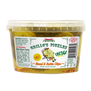Grillo's Bread and Butter Pickle Chips, 16 Oz (Case of 6)