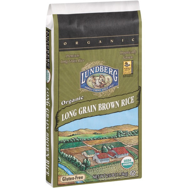 Lundberg Family Farms Long Grain Brown Rice, 25 lb