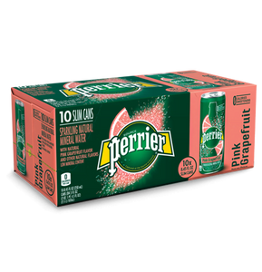 Perrier Sparkling Water W/ Grapefruit, 8.45 oz. (3 Boxes of 10 Cans)