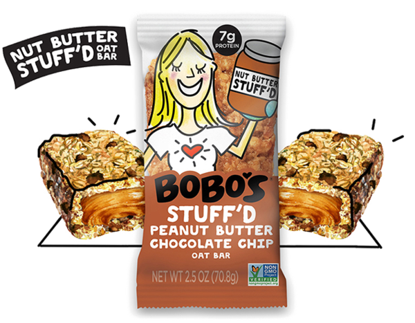 Bobo's Oat Bars, Gluten Free Chocolate Chip Peanut Butter, 2.5 Oz (Pack of 12)