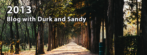 November 2013 Blog with Durk and Sandy